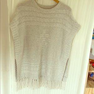Velvet Tunic tassel Sweater